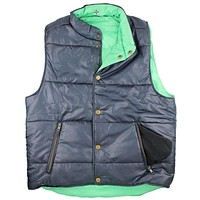 Reversible Vest in Navy and Evergreen by Castaway Clothing