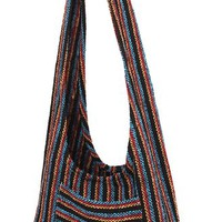 Hippie Bag Cross-Body Baja Sling Bag in Classic Baja Jacket Fabric. For Men or Women. Large and Comfortable. (Tecate 6)