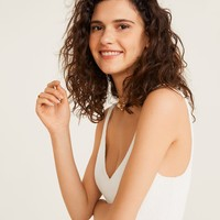 Spaghetti strap top - Women | Mango USA