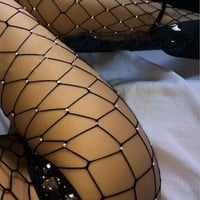 Women Sex Transparent Tights Fishnet Silk Stockings Lady new F/A