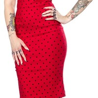 STEADY POLKA DOT DIVA DRESS RED