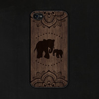 Elephant iPhone 5 Case - Elephant iPhone Case - Mandala iPhone 5c Case Wood iPhone 5 Case - Elephant iPhone 5c Case - Mandala iPhone 4 Case