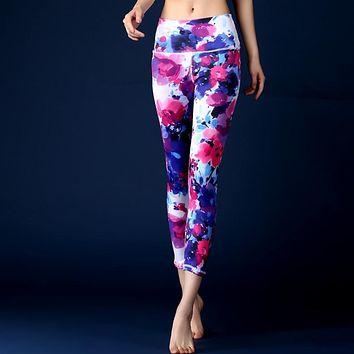 Colorful 3D Print Yoga Pants
