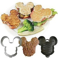 Disney Mickey Mouse Shaped Burger Press and Bun Cutter