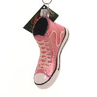 Old World Christmas PINK HIGH-TOP SNEAKER Glass American Classic 32315