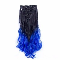 Wigs and hairpieces for women 130g Two Tone 32 Color 7Piece/set Clip in