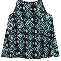 Printed High Neck Tank | Girls {category} {parent_category} | Shop Justice