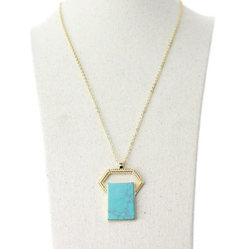 Gift Stylish Shiny Jewelry New Arrival Accessory Turquoise Necklace [4956895428]