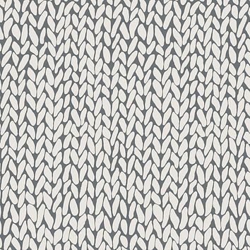 Hand Knit Grey Wallpaper