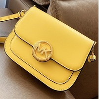 MK Michael kors New fashion solid color shoulder bag crossbody bag Yellow