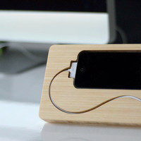 the Chisel iPhone 4, 4s dock. Bamboo, FSC certified.