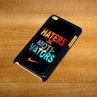 Nike Haters Motivation Nebula Galaxy For iPod Touch 4 Case *76*