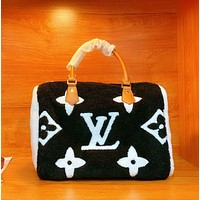 LV / Louis Vuitton lamb wool pillow bag
