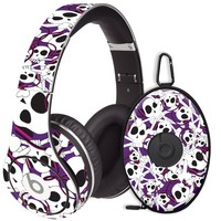 Skull Prince with Beats on Purple Decal Skin for Beats Studio Headphones & Carrying Case by Dr. Dre