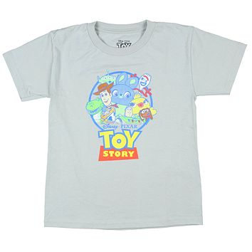 Disney Boy's Toy Story 4  Character Cluster Design T-Shirt