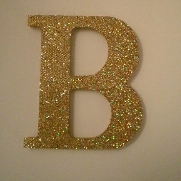 GOLD GLITTER LETTERS - Sparkling Gold Wall Letters, Initials, or Words