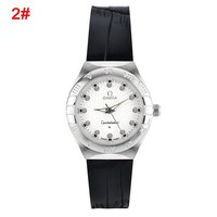 OMEGA Fashion Women Men Casual Watch Quartz Movement Wristwatch