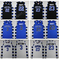 One Tree Hill Ravens Jersey Brother Movie 3 Lucas 23 Nathan Basketball Jerseys All Stitched Black White Blue Sports Excellent Quality