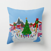 maybe Christmas doesn't come from a store, maybe, perhaps it's a little bit more Throw Pillow by Studiomarshallarts