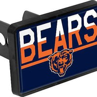 Chicago Bears Color Duo Tone Universal HITCH Bumper Trailer Auto Cover Football