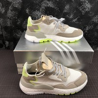 hcxx A1171 Adidas Nite Jogger 2019 3M Reflection Boost Running Shoes White Green