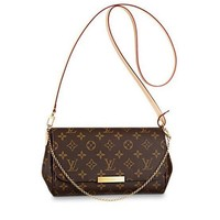 LV Louis Vuitton Popular Women Print Leather Metal Chain Crossbody Satchel Shoulder Bag I