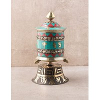 Turquoise Tibetan Prayer Wheel
