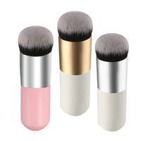 1Pcs 3Colors Flat Liquid Foundation Makeup Brushes Blush Buffer Powder Make up Brushes Beauty Primer Kabuki Contour Brush Tools