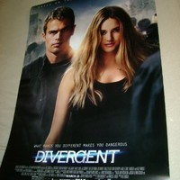 DIVERGENT - Movie Poster - Double-Sided - 27x40 - Original - RARE VERSION - FINAL - KATE WINSLET - ASHLEY JUDD - THEO JAMES - SHAILENE WOODLEY