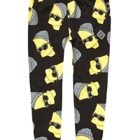 Neff The Simpsons Steezy Bart Mens Sweatpants Black  In Sizes