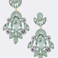Crystal Resin Earrings - Mint