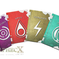 Fan-made Fire Emblem Spell Tomes inspired personalized journal notebook