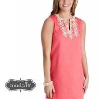 Blakely Shift Dress - Coral
