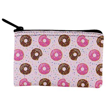 Frosted Donut Sprinkles Food Repeat Pattern Coin Purse