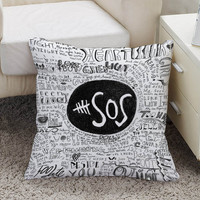 5 seconds of summer  cool quote Square Pillow Case Custom Zippered Pillow Case one side and two side