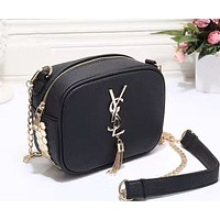YSL Women Shopping Leather Metal Chain Crossbody Satchel Shoulder Bag From Best Gifts