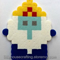Ice King Perler (Adventure Time) from Little House of Crafting