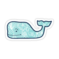 Vineyard Vines Whale Lilly Print by Csturges07
