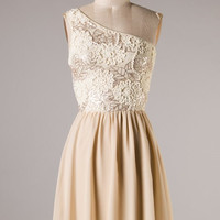Sparkle Champagne On Ice Dress