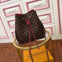 Kuyou Gb29107 Lv Louis Vuitton N40214 Neonoe Small Crossbody Bucket Bag - Leather Drawstring 26x 22x 27cm