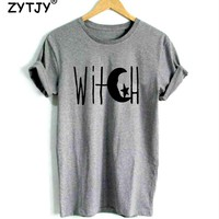 Witch Crescent Moon and Star Print Women tshirt Casual Cotton Hipster Funny t shirt For Girl Top Tee Tumblr Drop Ship BA-127