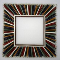 Southwest Colored Twig Mirror by WolfLakeCreations on Etsy