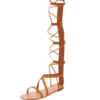 Valentino Knee-High Flat Gladiator Sandal