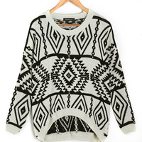 'The Iris' Patterned Long Sleeve Sweater