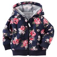 Floral French Terry Pullover