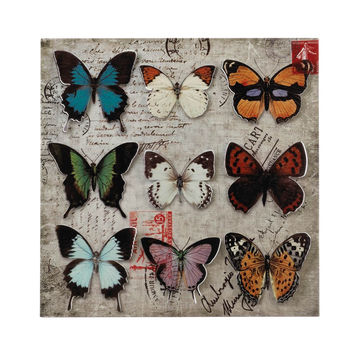 Butterfly Collage Tin Wall Art