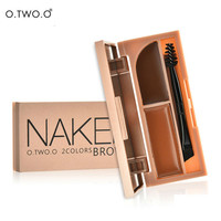Naked Professional Eye Brow Makeup Kit Set Waterproof Eyebrow Powder and Gel 2 in 1 With Brush and Mirror
