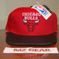 Vintage Chicago Bulls Snapback Hat Officially Licensed Deadstock Brand New Cap