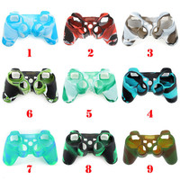 Mix Camo Silicone Gel Rubber Case Skin Grip Cover For PS3 Controller