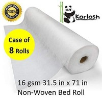 Karlash Disposable Non Woven Bed Sheet Roll Massage table paper roll 16gms Thick (PACK OF 8)